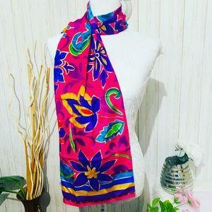 Liz Claiborne Silk Floral Print Scarf